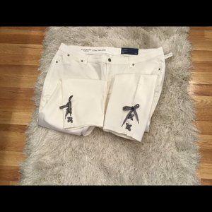 Talbots White Skinny Jeans
